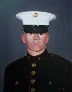 hand painted military portrait by North Carolina artist Jeremy Sams