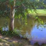 hagan stone park pond plein air painting