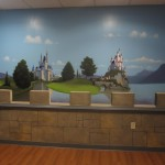 princess castle mural