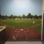 Kids room murals jeremy sams art for Baseball field mural