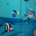 ocean mural for pediatrics office kids mural children's mural