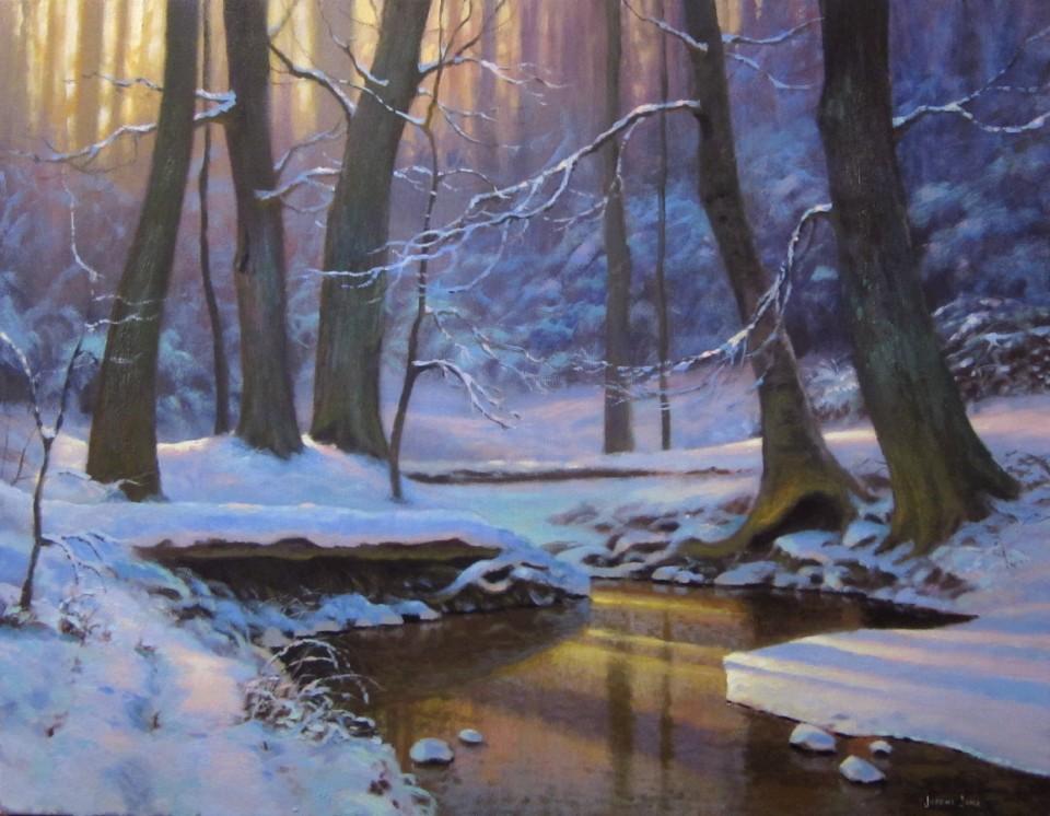 Зимние пейзажи акриловыми красками