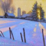 sunset farm painting by North Carolina artist, Jeremy Sams