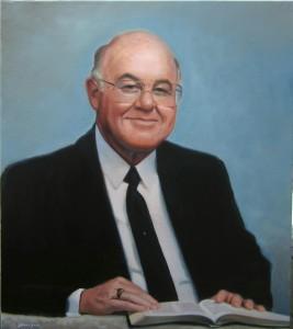 hand painted portrait of William Kanoy by North Carolina artist Jeremy Sams