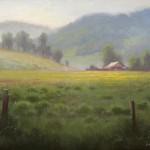 plein air meadow mountains in Burnsville, NC