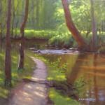creekside park plein air painting