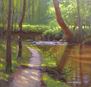 creekside park plein air painting