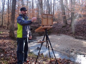 Jeremy Sams plein air painting