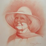Pastel Chalk Portrait of elder lady