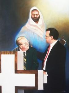 Ralph Sexton Sr. and Ralph Sexton Jr. portrait by North Carolina artist, Jeremy Sams