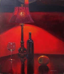 """""""The Red Room"""" 14x11 acrylic"""