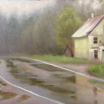 plein air painting near Burnsville, NC