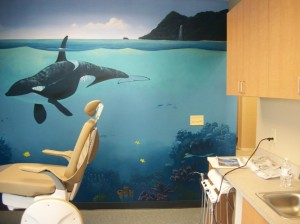 Underwater whale mural jeremy sams art for Underwater mural ideas