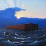 painting of Noah's ark by North Carolina artist, Jeremy Sams
