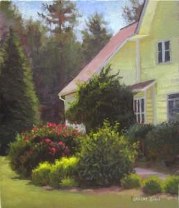 sunshine farm lavender garden plein air painting
