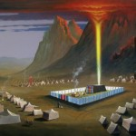 painting of the wilderness tabernacle by North Carolina artist, Jeremy Sams