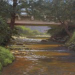 plein air painting of Boone Fork Creek