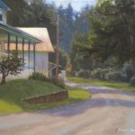 plein air painting of Todd General Store by North Carolina artist, Jeremy Sams