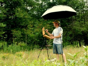 Jeremy plein air painting
