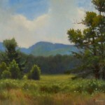 plein air painting of Sweetgrass meadows near Blowing Rock, NC by North Carolina artist, Jeremy Sams.
