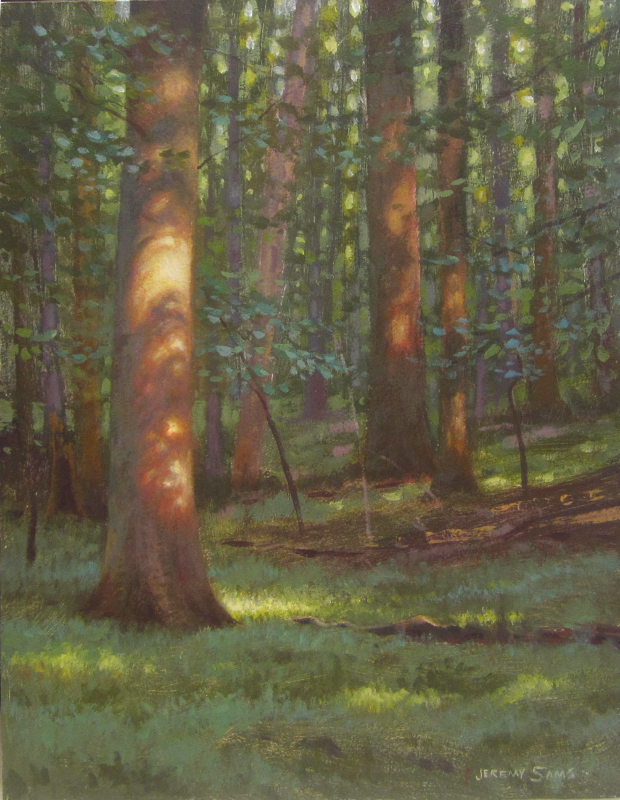 How To Paint Forest In Acrylic