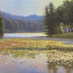 Bass Lake 8x10 acrylic en plein air