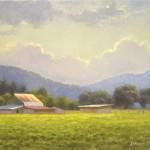 Farm in Boone 8x10 acrylic en plein air