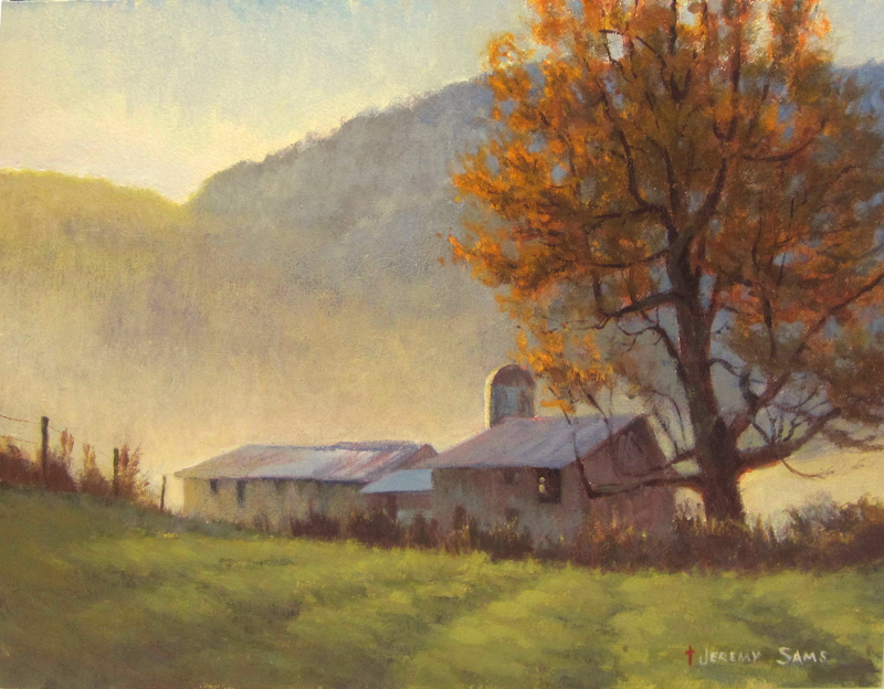 Autumn In The Nc Mountains Jeremy Sams Art