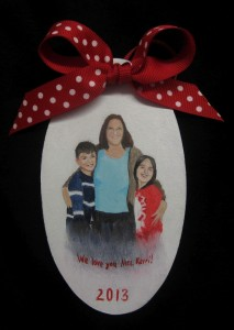 portrait christmas ornament