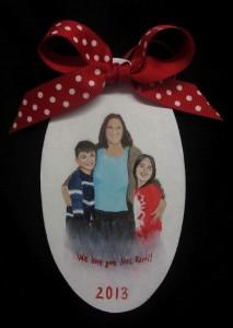 portrait christmas ornament