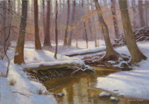 snow creek plein air