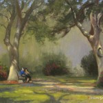 Resting in Franklin Square Park 8x10 acrylic en plein air