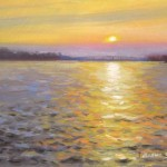 Southport Sunset plein air painting