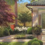 Charlotte garden tour plein air painting queens rd.
