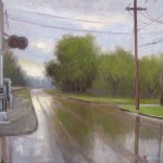 April Showers plein air painting in Kinston by North Carolina artist Jeremy Sams