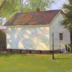 Harmony House plein air painting in Kinston by North Carolina artist Jeremy Sams