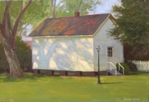 Harmony House plein air painting in Kinston by North Carolina artist Jeremy Sams