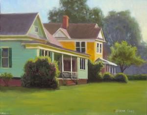 Mallard's Corner plein air painting in Kinston by North Carolina artist Jeremy Sams