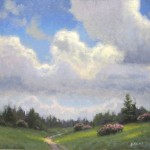 plein air painting of clouds at Cloudland Roan Mountain by North Carolina artist Jeremy Sams