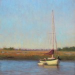yacht basin boat plein air painting by North Carolina artist Jeremy Sams