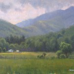 plein air painting of Celo Mountain by North Carolina artist Jeremy Sams