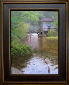 Rain at the Grist Mill 12x16
