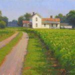 farm scene en plein air painting North Carolina