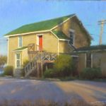 plein air painting of art gallery at Solomon's Island Maryland by North Carolina artist Jeremy Sams