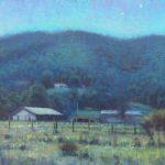 plein air nocturne blue ridge mountains by North Carolina artist Jeremy Sams