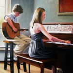 Children's portrait by North carolin artist Jeremy Sams
