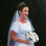 hand painted wedding portraits by North Carolina artist, Jeremy Sams