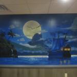 peter pan captain hook mural
