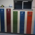 sports locker mural