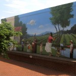 Yadkin Arts center Mural Yadkinville NC painted by North Carolina artist Jeremy Sams